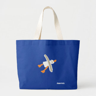 Art Shopping Bag: Jumbo Blue Bag and Seagull