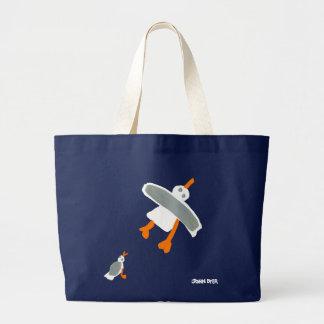 Art Shopping Bag: Jumbo Blue Bag and Seagulls