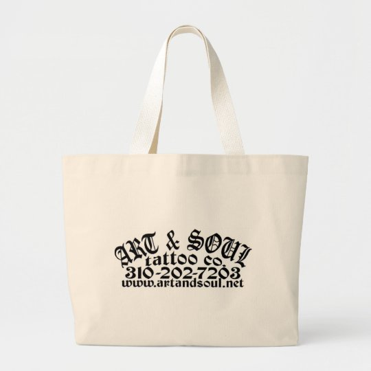 ART & SOUL POCKET LARGE TOTE BAG