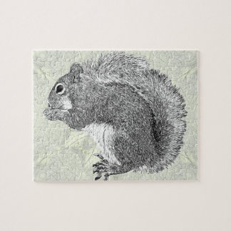Art Squirrel Jigsaw Puzzle