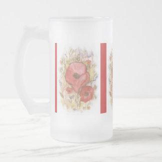 art stein frosted glass mug