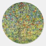 Art stickers Gustav Klimt painting The Apple Tree