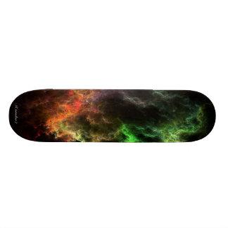 Art Stucco Mosaic Nebula Cluster Skateboard