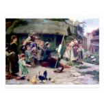 Art Student Holiday Painting Postcard