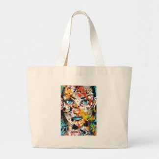 Art Student Large Tote Bag