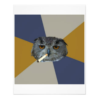 Art Student Owl Advice Animal Meme Flyer