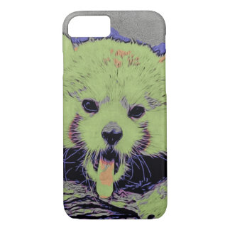 Art Studio 12216 yawning red panda iPhone 7 Case