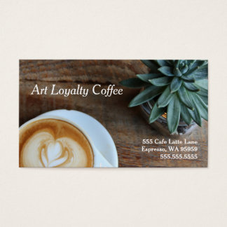 Art & Succulent Loyalty Coffee Punch-Card