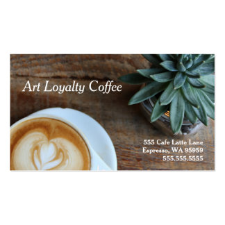 Art & Succulent Loyalty Coffee Punch-Card Pack Of Standard Business Cards