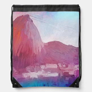 Art Sugarloaf Mountain Rio de Janeiro Drawstring Bag