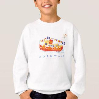 Art Sweatshirt: Falmouth Ferry Boat, Cornwall. Sweatshirt