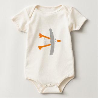 Art T-Shirt: Classic Seagull Baby Bodysuit