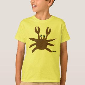 Art T-Shirt: Crazy Crab Seaside Holiday Top