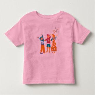 Art T-Shirt: Happy Kids and Seagull Toddler T-Shirt