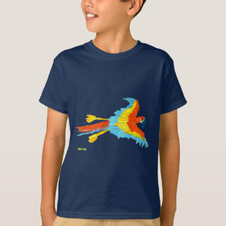 Art T-Shirt: Parrot and Seagull T-Shirt