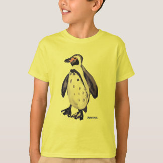 Art T-Shirt: Penguin Yellow Puffin Parrot T-Shirt