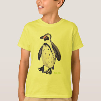 Art T-Shirt: Penguin Yellow T-Shirt