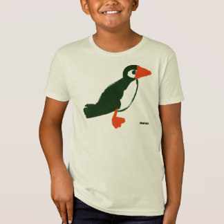 Art T-Shirt: Puffin Holiday Top. Organic T-Shirt