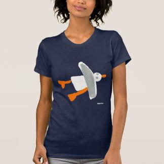 Art T-Shirt: Seagull Front and Back Design T Shirt