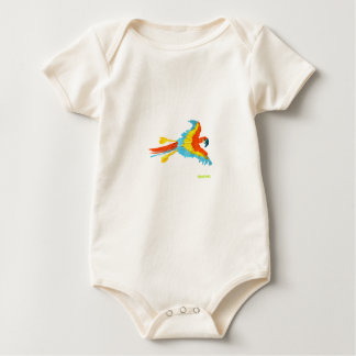 Art T-Shirt: Tropical Parrot Baby Bodysuit
