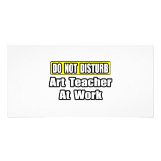 Art Teacher At Work Custom Photo Card