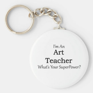 Art Teacher Basic Round Button Key Ring