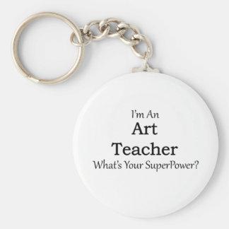 Art Teacher Basic Round Button Key Ring