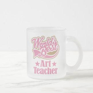 Art Teacher Gift (Worlds Best) Frosted Glass Mug