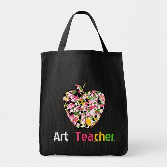Art Teacher Painted Apple Bag
