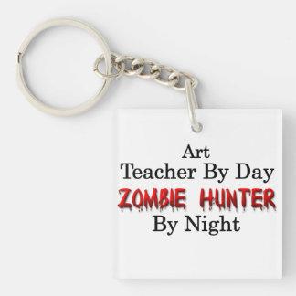 Art Teacher/Zombie Hunter Single-Sided Square Acrylic Key Ring
