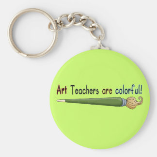 Art Teachers Are Colorful Tshirts and Gifts Key Ring