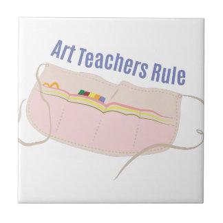 Art Teachers Rule Small Square Tile