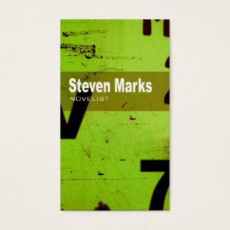 """Art Tech Business Card """"Novelist Author Writer"""""""