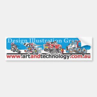 Art & Technology Design Illustration Graphics Bumper Sticker