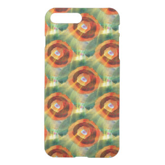 art texture abstract water green, orange, circle iPhone 8 plus/7 plus case