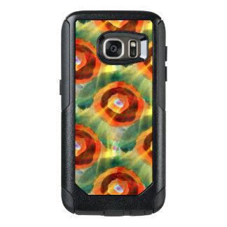 art texture abstract water green, orange, circle OtterBox samsung galaxy s7 case