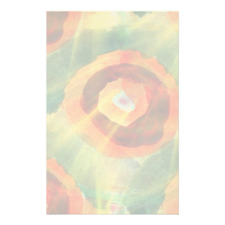 art texture abstract water green, orange, circle stationery