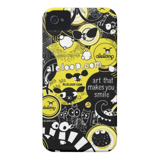 Art That Makes You Smile Aleloop iPhone Case iPhone 4 Cases