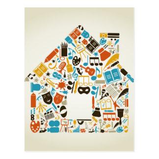 Art the house postcard