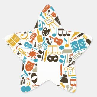 Art the house star sticker
