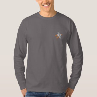 Art Top: Classic Seagull Embroidered Long Sleeve T-Shirt