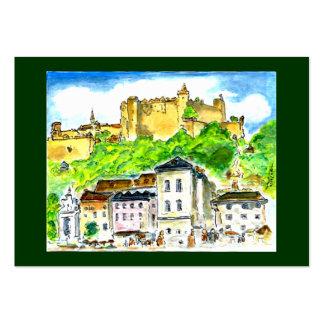 Art Trading Museum Business Cards Salzburg Castle
