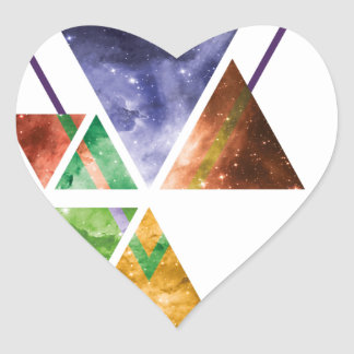 Art Triangle Galaxy Heart Sticker
