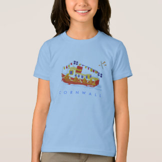 Art Tshirt: Falmouth Ferry Boat, Cornwall. Seagull T-Shirt