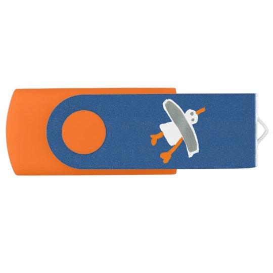 Art USB Stick: John Dyer Seagull Blue Orange
