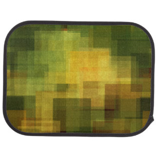 art vintage colorful abstract geometric 2 car mat