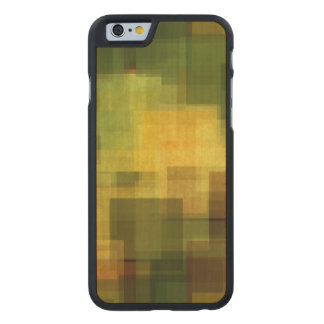 art vintage colorful abstract geometric 2 carved maple iPhone 6 case