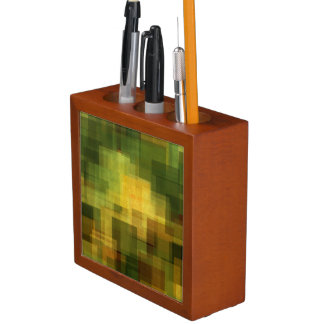art vintage colorful abstract geometric 2 desk organiser