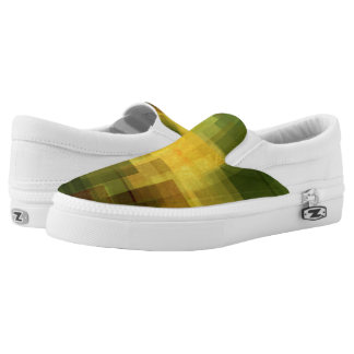 art vintage colorful abstract geometric 2 Slip-On shoes
