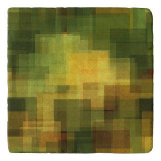 art vintage colorful abstract geometric 2 trivet
